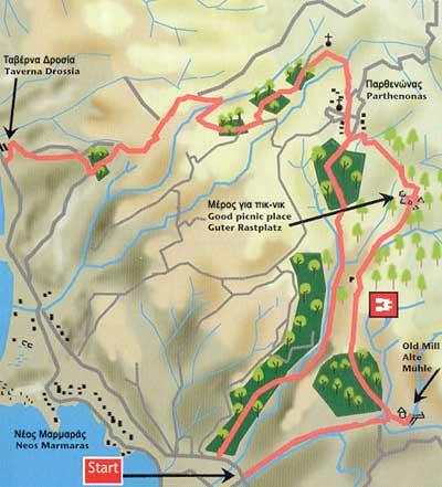 Hiking Neos Marmaras - Parthenonas